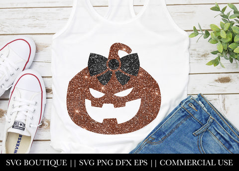 Pumpkin Glitter SVG File Silhouette and Cricut Cutting Machines
