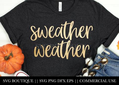 Sweater Weather SVG File