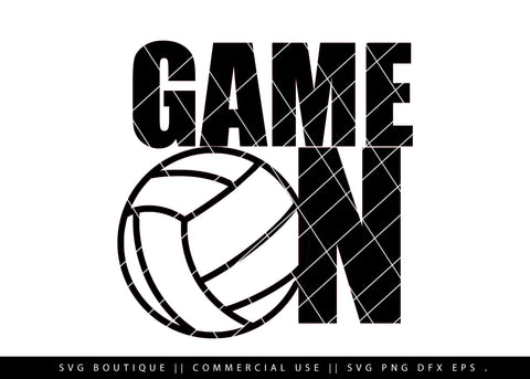 Game On - Volleyball SVG File
