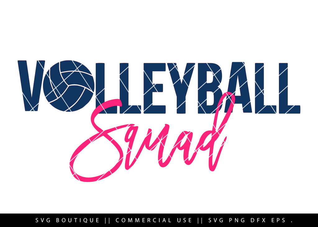Volleyball Squad -  Volleyball SVG Cutting File