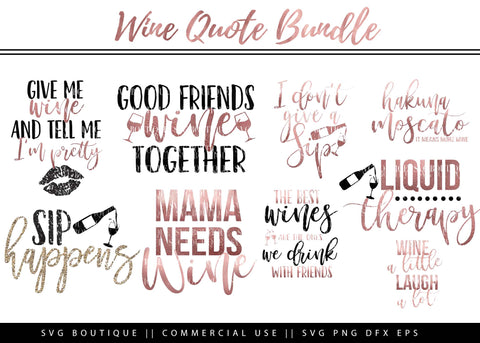 Wine SVG Bundle