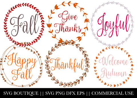 Fall Wreath SVG File Bundle