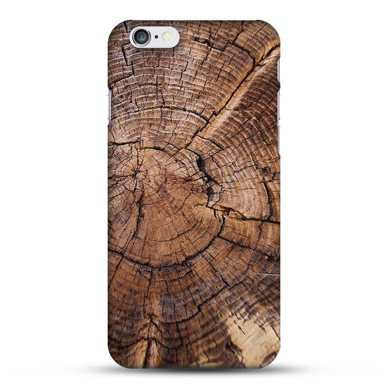 Natural Wood Tree Growth Ring Phone Case For Apple iPhone 7 7Plus 6 6s plus 5 5s SE