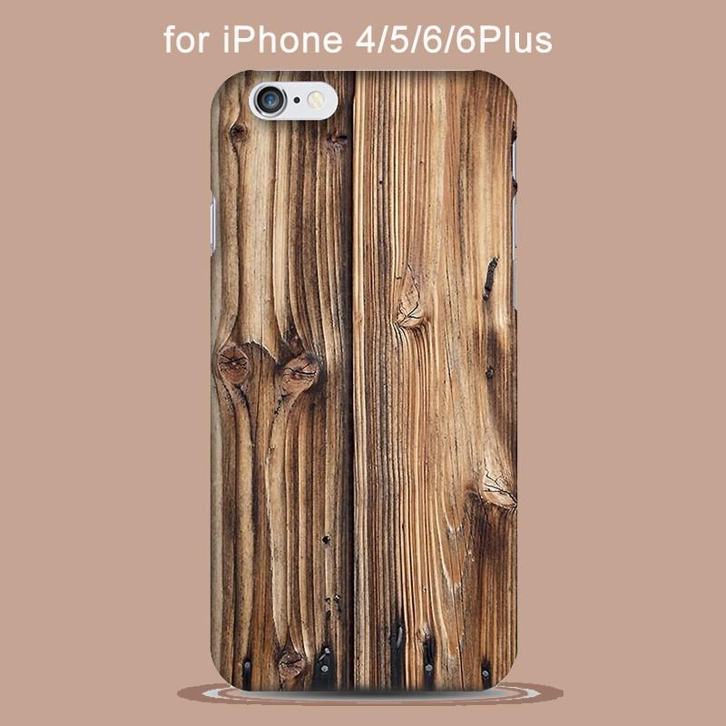 Real Natural Bamboo Wood Hard Phone Case For iPhone