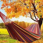 Striped Canvas Hammock- Red or Blue