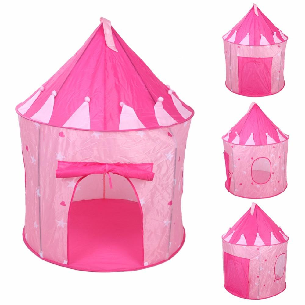 Pop Up Pink Princess Castle Play House