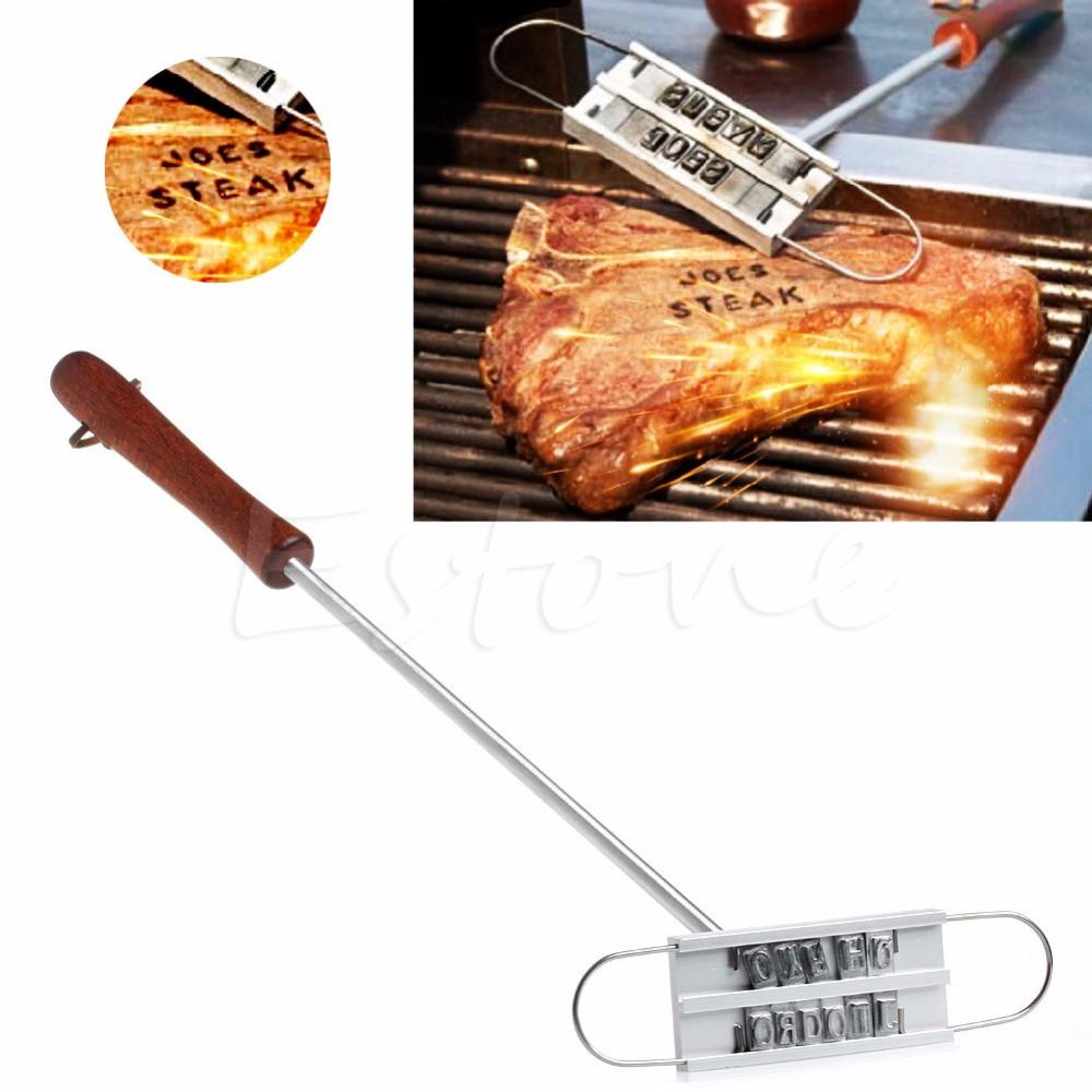 BBQ Meat Branding Iron- Changeable 55 Letters- Personalize Your Steaks!