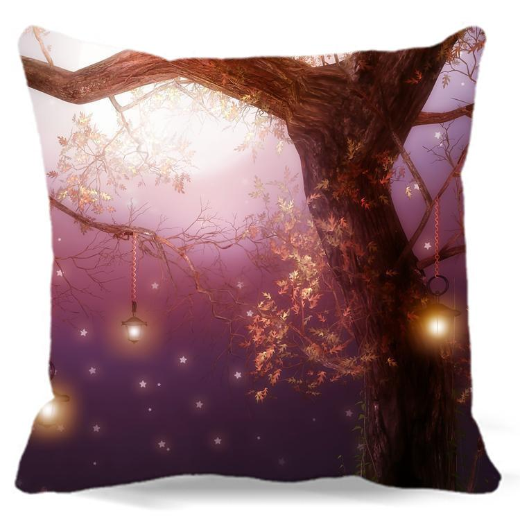 Lighted Tree Pillow Case