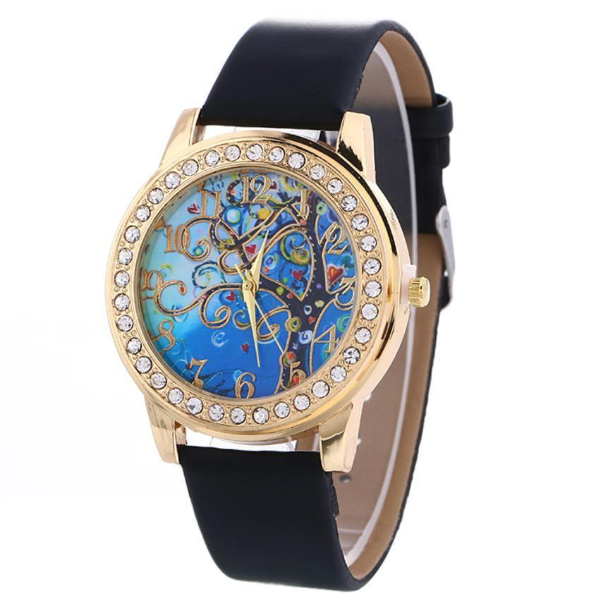 Ladies Tree of Life Quartz Watch