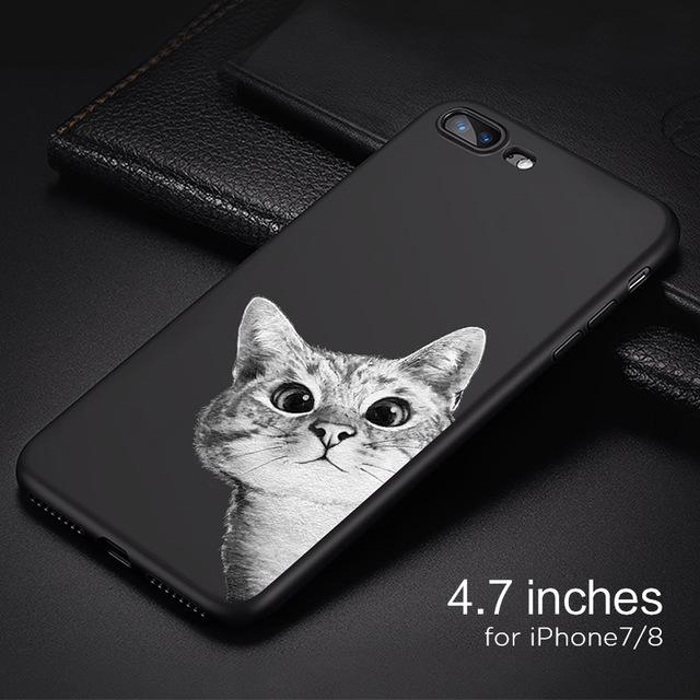 Peek-a-Boo Kitty Cat Cell Phone Case For iphone 7 8 8plus