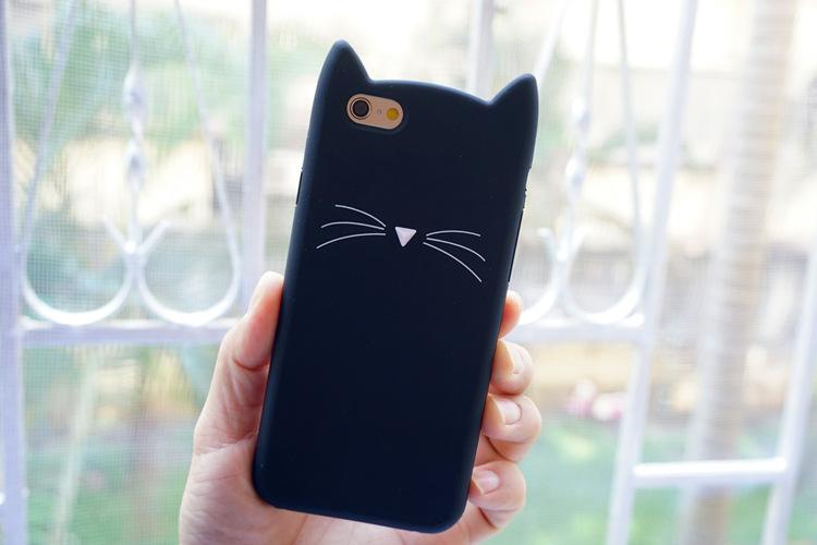 Cat Whiskers Phone Cases for iPhone X 4S 5S SE 6 6S 7 8 X