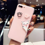 Cute Kitty Cell Phone Case For iPhone 6 6s 7 8 plus