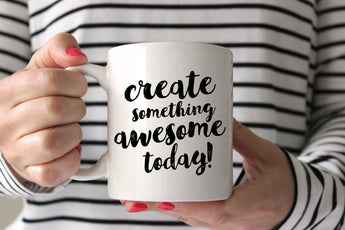 Create Something Awesome Today! This coffee mug makes a great gift for artists, bloggers, makers and more! From CreatingBeautifully.com