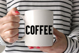 Coffee or Vodka? Fun and funny gift idea for moms and more! Ceramic coffee mug made in the USA from CreatingBeautifully.com