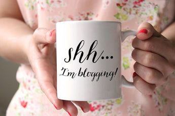 Shhh... I'm Blogging! Great gift idea for bloggers, and it's under $20 AND this coffee mug made in the USA!