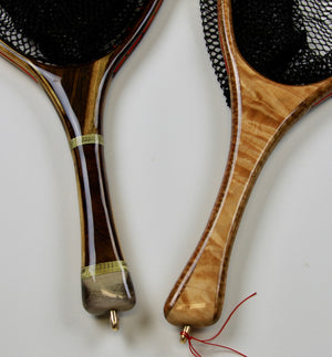 LANDING NET HANDLES WITH DIFFERENT WOODS AND FEATURES