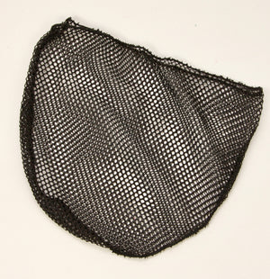 Small Tenkara style landing net bag in black.