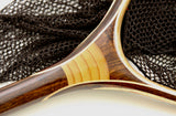 Large Hoop, Wooden Landing Net:  Steelheader with Carved handle