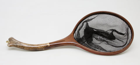 Medium sized  Fly Fishing Net : Elk Antler and Walnut