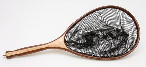 Medium sized  Fly Fishing Net; Walnut and maple