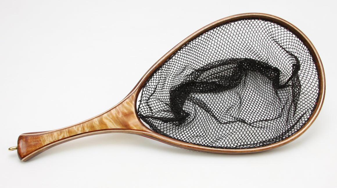 Medium sized  Fly Fishing Net: Koa and Quilted Maple