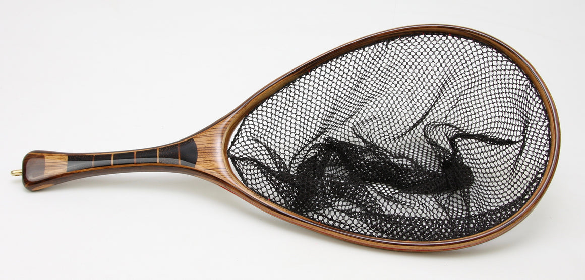 Medium sized Fly Fishing Net : Zebrawood and Texas Ebony