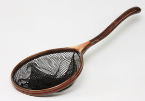 Medium sized , Uniquely shaped Custom Landing Net: The Snake, Boxelder and Walnut