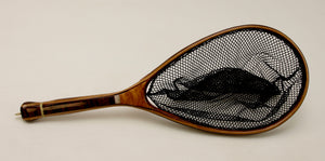 Medium sized Fly Fishing Net, a harmony of woods: $320 as shown