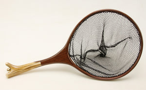 Medium Custom Trout Landing Net: Elk and Walnut