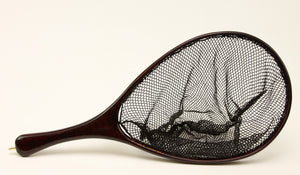 c/p Medium Trout Landing Net: Deeply Dyed Maple
