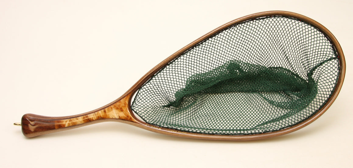 Medium sized, Custom Fly Fishing Net : Beautiful Burl