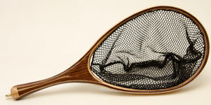 c/p Small Brook Trout Landing Net: Walnut and Bird eye Maple