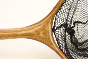 Close up of landing net handle.