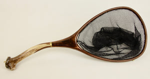 Landing net with Elk antler handle.