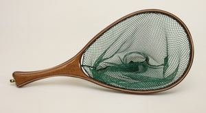 Medium sized Fly Fishing Net; Catalpa and Walnut: $260 as shown