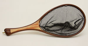 Small brook trout landing net: Select Box Elder and Walnut