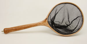 Small Tenkara Style Net in Highly Figured Maple