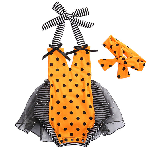 Stylish Polka Dot Summer Romper