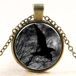 Classic Handcrafted Crow Pendant