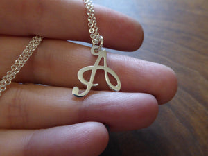 Letter A Initial Charm Necklace