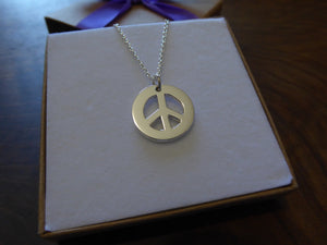 Miniature Peace Symbol, Ban the Bomb Pendant