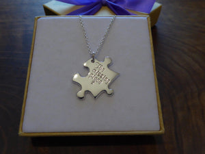 The Missing Piece Puzzle Necklace