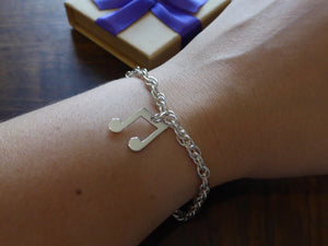 Music charm on Prince of Wales Bracelet