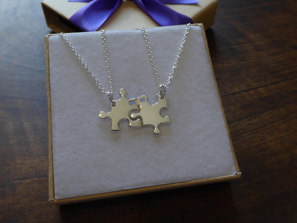 Best Friend Miniature Puzzle Necklace