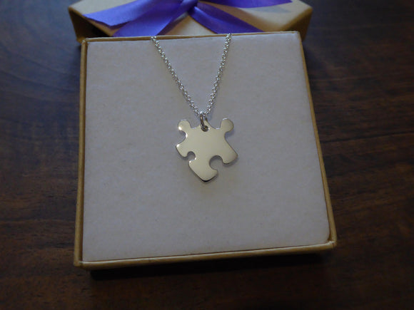 Silver Mini Puzzle Necklace