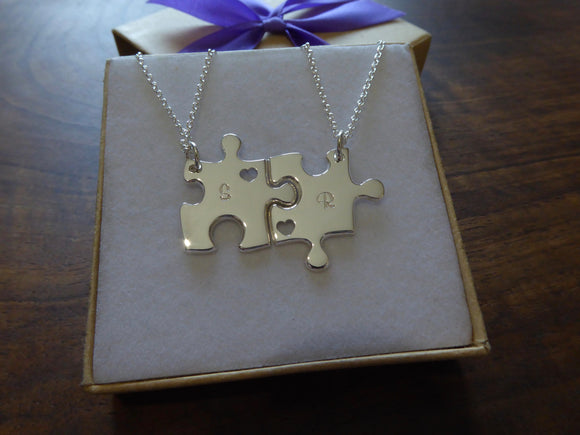 Two Best Friend Puzzle Necklaces