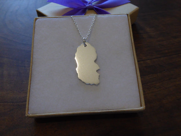 Silver Isle of Arran Necklace
