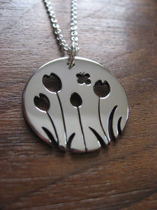 Tulip with Butterfly Pendant