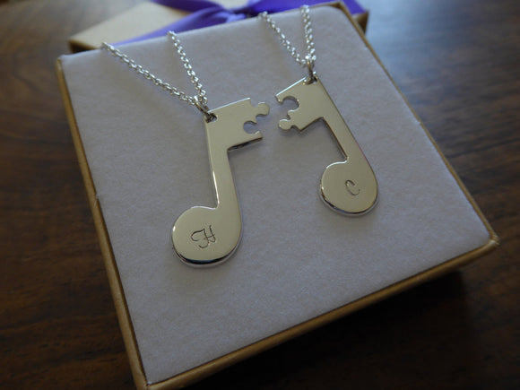 Music Note Friendship Necklace