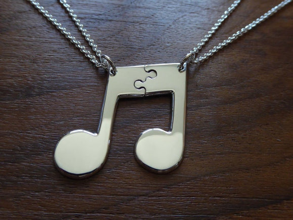 Best Friend Music Note Necklaces